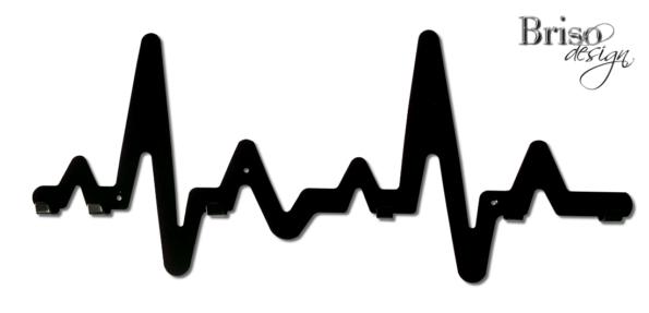 wieszak na ubrania EKG z haczykami