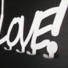 wieszak na ubrania Love
